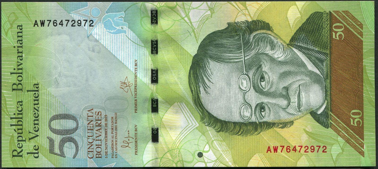 Venezuela (P 92k) - 50 bolivares (2015) - UNC