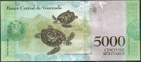 Venezuela (P 97b) - 5000 bolivares (23.3.2017) - UNC