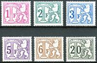 (1966) MiNr. 56 - 61 ** - Belgie - Portomarken - Lev a T