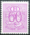 """(1966) MiNr. 63 ** - Belgie - Služební známky - Heraldický lev, """"B"""" v oválu"""