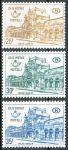 (1967) MiNr. 60 - 62 ** - Belgie - Postpaketmarken - Nádraží