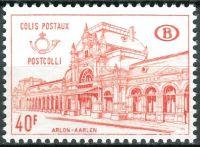 (1968) MiNr. 63 ** - Belgie - Postpaketmarken - Nádraží