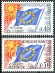 (1969) MiNr. 13 - 14 ** - Francie - Rada Evropy - Vlajka EU