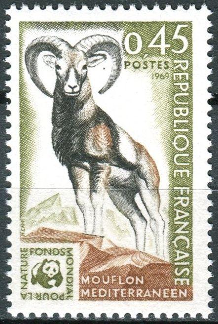 (1969) MiNr. 1683 ** - Francie - Celosvětová ochrana: muflon