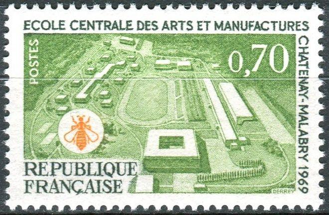 (1969) MiNr. 1685 ** - Francie - Výstavba technické školy v Chatenay