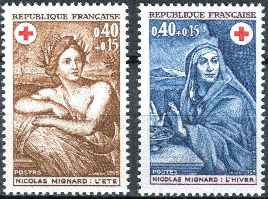 (1969) MiNr. 1692 - 1693 ** - Francie - Červený kříž