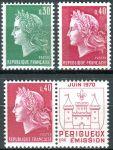 (1970) MiNr. 1649 IIy - 1650 Iy a x ** - Francie - Marianne