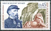 (1970) MiNr. 1731 ** - Francie - 100. výročí obléhání Belfortu