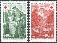 (1970) MiNr. 1733 - 1734 ** - Francie - Umění - Červený kříž