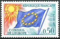 (1971) MiNr. 15 ** - Francie - Rada Evropy - Vlajka EU