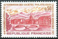 (1971) MiNr. 1753 ** - Frankreich - Philatelisten-Kongress, Grenoble - Ansicht von Grenoble