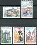 (1971) MiNr. 1756 - 1760 ** - Frankreich - Tourismus