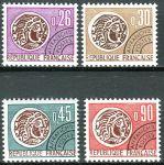 (1971) MiNr. 1761 - 1764 ** - Frankreich - Freimarken mit Vorausentwertung: Keltische Münze