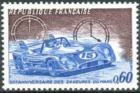 (1973) MiNr. 1838 ** - Francie - 50 let 24 hodinový automobilový závod v Le Mans
