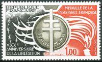 (1974) MiNr. 1897 ** - Frankreich - Widerstandskämpfer-Medaille