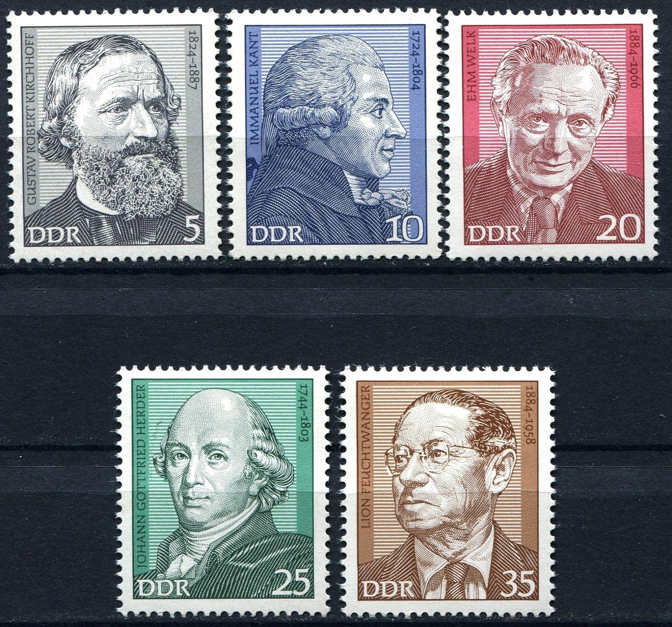 (1974) MiNr. 1941 - 1945 ** - DDR - Důležité osobnosti (II).
