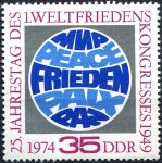 (1974) MiNr. 1946 ** - DDR - Weltfriedenskongresses