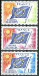(1975) MiNr. 16 - 18 ** - Francie - Rada Evropy - Vlajka EU