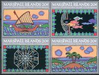 (1984) MiNr. 1 - 4 ** - Marshallovy ostrovy - 4-bl - Poštovní nezávislost