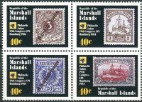 (1984) MiNr. 15 - 18 ** - Marshallovy ostrovy - 4-bl - Světový poštovní kongres, Hamburg