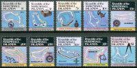(1984) MiNr. 5 - 14 A ** - Marshallovy ostrovy - ostrovní mapy