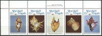 (1985) MiNr. 35 - 39 ** - Marshallovy ostrovy - 5-pá - mořští plži
