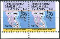 (1985) MiNr. 40 D ** - Marshallovy ostrovy - SP - Ostrovní mapy