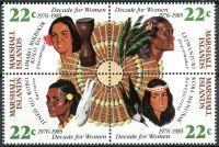 (1985) MiNr. 46 - 49 ** - Marshallovy ostrovy - 4-bl - Ženská dekáda Organizace spojených národů