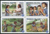 (1986) MiNr. 101 - 104 ** - Marshallovy ostrovy - 4-bl - 20 let skautů na Marshallových ostrovech