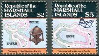 (1986) MiNr. 71 - 72 ** - Marshallovy ostrovy - Ostrovní mapy