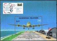 """(1986) MiNr. 81 ** - Marshallovy ostrovy - BLOCK 1 - Douglas C-54 """"Globester"""""""