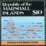 (1987) MiNr. 119 ** - Marshallovy ostrovy - Mapy ostrova
