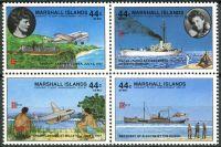 (1987) MiNr. 120 - 123 ** - Marshallovy ostrovy - 4-bl - 50. výročí letu kolem celého světa