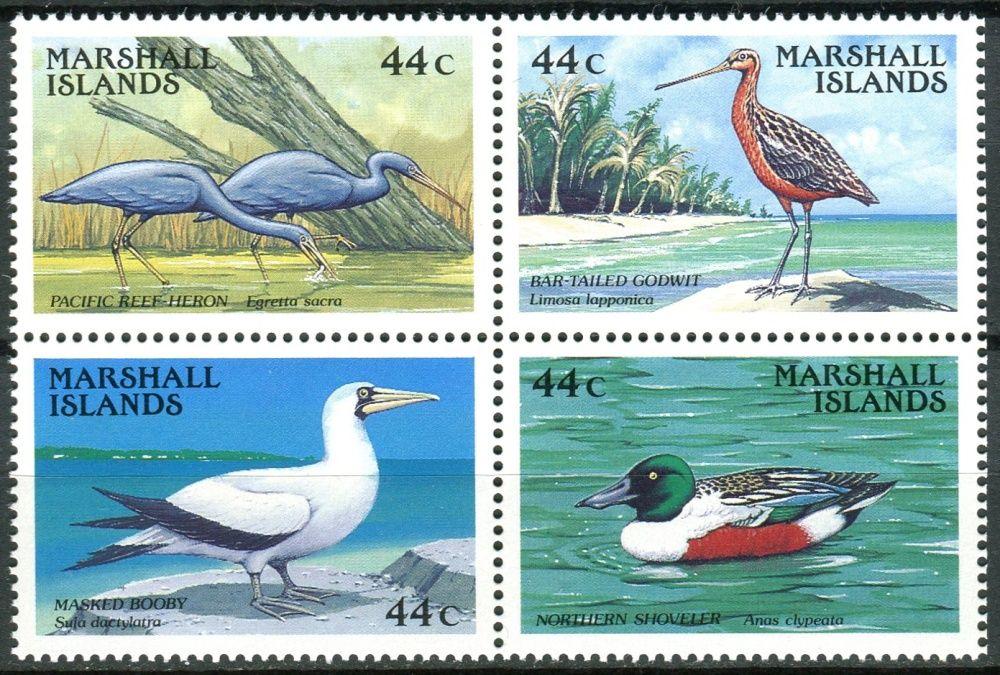 (1988) MiNr. 146 - 149 ** - Marshallovy ostrovy - 4-bl - Ptáci