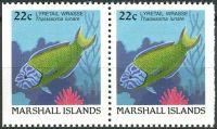 (1988) MiNr. 154 D ** - Marshallovy ostrovy - 2-bl - Ryby