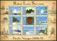 (1988) MiNr. 176 - 184 ** - Marshallovy ostrovy - PL - Tichomořské cesty Roberta Louise Stevensona