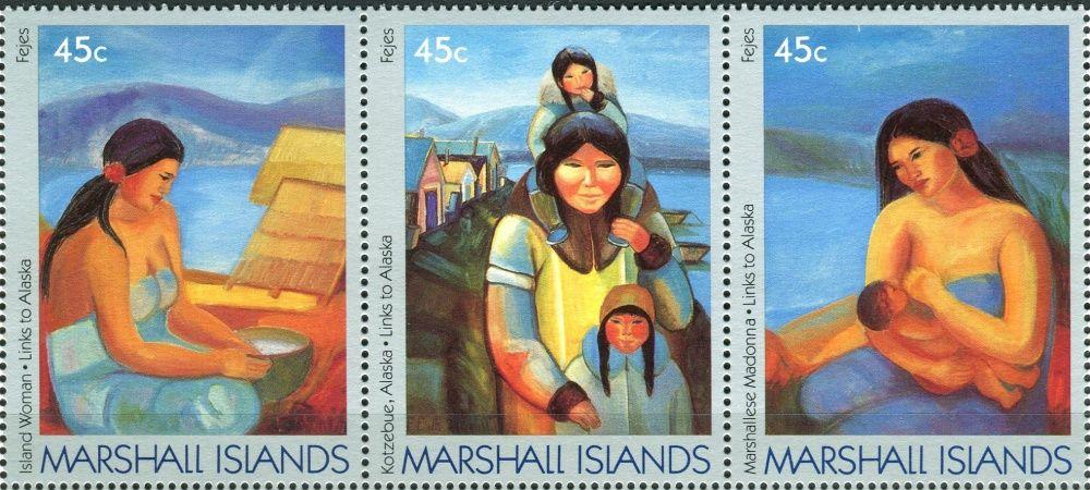 (1989) MiNr. 209 - 211 ** - Marshallovy ostrovy - 3-pá - Spojení s Aljaškou