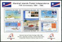 (1989) MiNr. 230 - 235 ** - Marshallovy ostrovy - BLOCK 5 - Marshallovy ostrovy poštovní nezávislost
