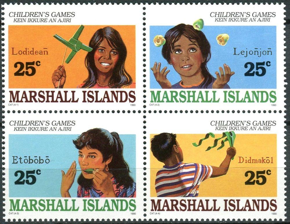 (1990) MiNr. 280 - 283 ** - Marshallovy ostrovy - 4-bl - dětské hry