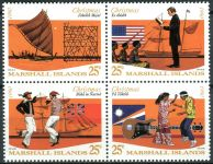 (1990) MiNr. 325 - 328 ** - Marshallovy ostrovy - 4-bl - Vánoce