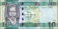 Jižní Sudán - (P 12a) 10 POUNDs (2015) - UNC