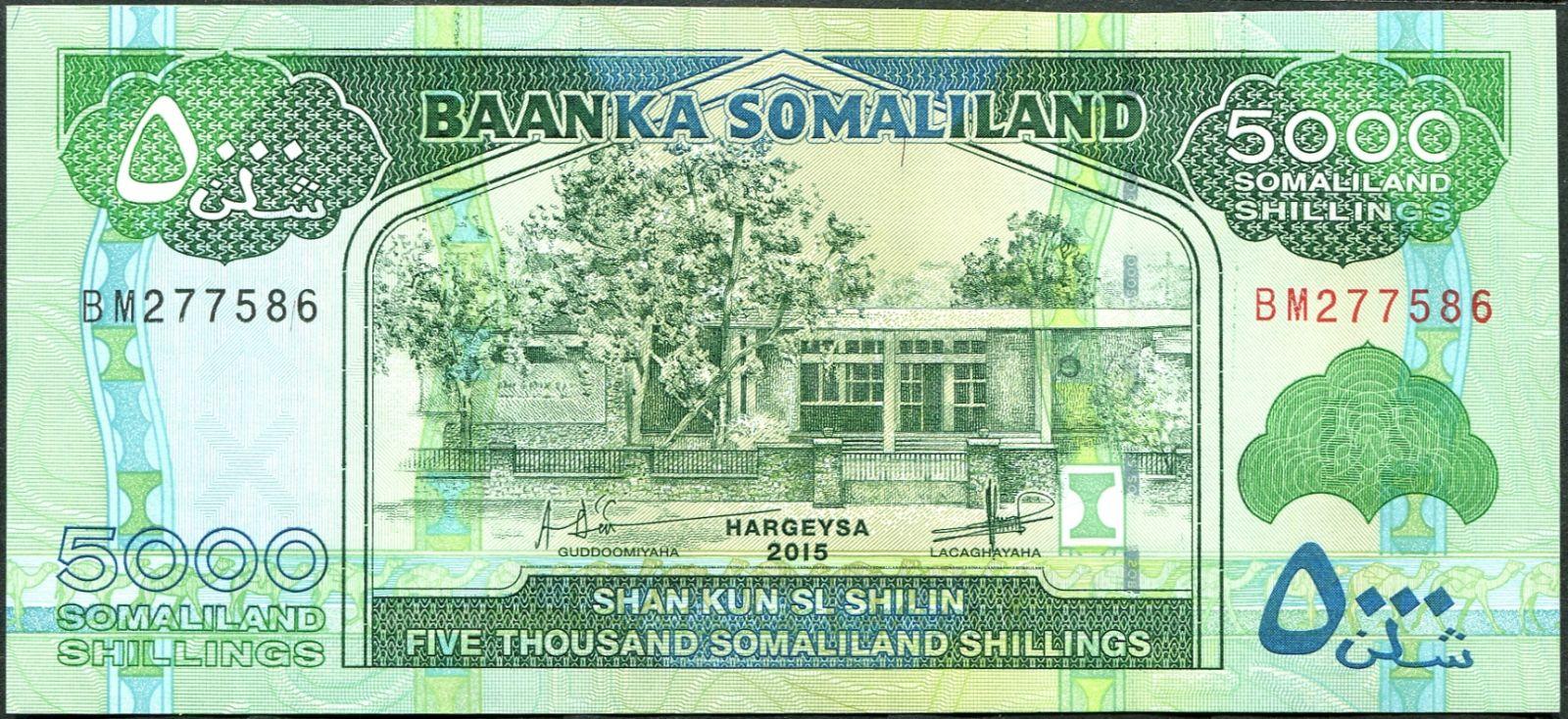 Somaliland - (P 21d) 5000 Shillings (2015) - UNC