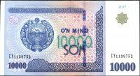 Uzbekistán (P 84) - 10.000 Sum (2017) - UNC
