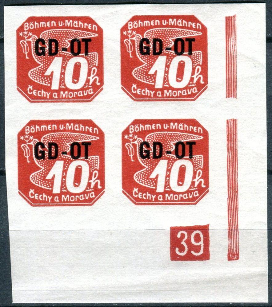 (1939) č. OT 1 ** - B. ü. M. - 4-bl -  známka pro obchodní tiskoviny - d.č. 39