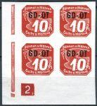 (1939) č. OT 1 ** - B. ü. M. - 4-bl -  známka pro obchodní tiskoviny - 2 rám ukončen čtverečkem