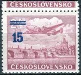 (1949) č. L 31a * - ČSSR - KH - Letecké zn. - přetisková provizoria - kupon stopa