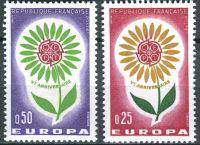 (1964) MiNr. 1490 - 1491 ** - Francie - Europa