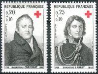 (1964) MiNr. 1494 - 1495 ** - Francie - Červený kříž