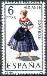 (1967) MiNr. 1664 ** - Španělsko - Kroje (III) Alicante