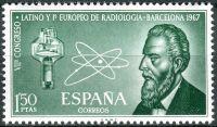 (1967) MiNr. 1676 ** - Španělsko - Radiologický kongres, Barcelona